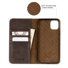 iPhone 11 Pro Max Leather Case - Dark Brown - Close up of microfibre lining