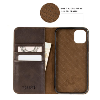 iPhone 11 Pro Max Leather Case - Dark Brown 2