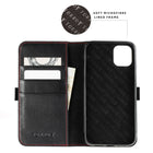 iPhone 11 Pro Max Leather Case - Soft microfibre lined frame