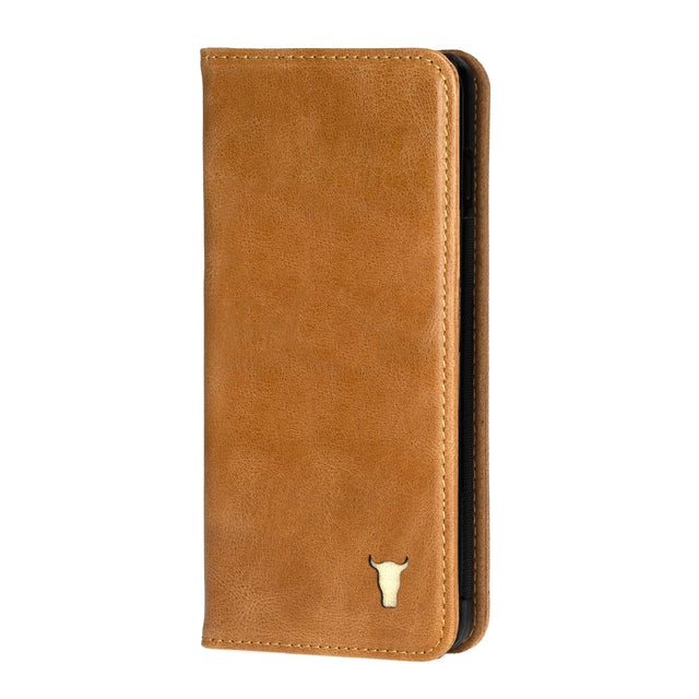 Tan Leather Stand Case for Galaxy S20 / S20 5G