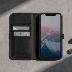 iPhone 11 Pro Max Leather Case - black with red detail 6