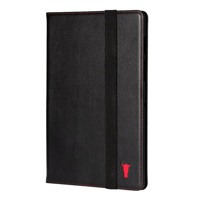 Black Leather (with Red Stitching) Case for iPad Pro 11-inch (2020)