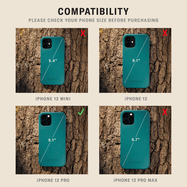 Comparsion picture for iPhone 12 Pro Green Back Bumper Case