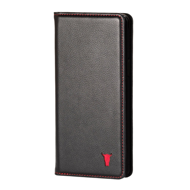 Black Leather (with Red Stitching) Case for iPhone 6/6S Plus