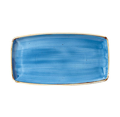 Cornflower Blue - Oblong Plate - 29.5 X 15Cm
