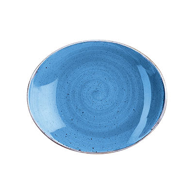 Cornflower Blue - Oval Plate - 19.2Cm