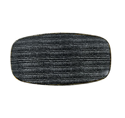 Charcoal Black - Oblong Chefs Plate 29.8 X 15.3Cm