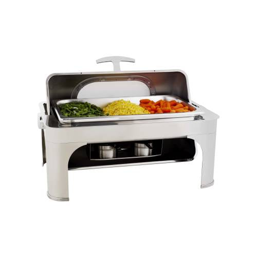 Chafing Dish Rectangular - Roll Top With Glass Lid 8.5Lt