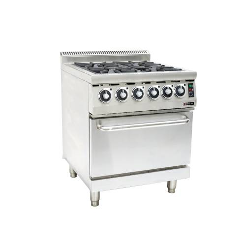 Gas Stove With Electric Oven Anvil - 4 Burner
