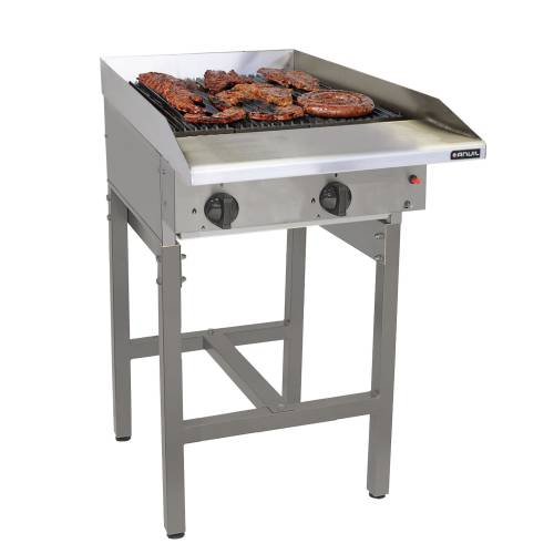 Gas Griller Anvil - 4 Burner Radiant - Free Standing