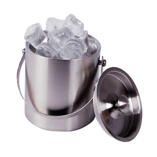 Double Walled Ice Bucket With Lid- 1Lt S/Steel