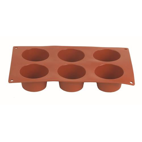 Mould Silicon Muffin - 6 Cups 70 X 40Mm