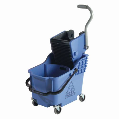 Numatic Plastic Bucket & Wringer - Blue - Dual Compartment