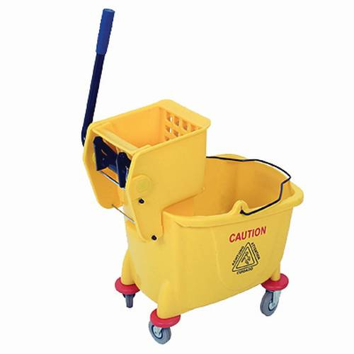 Plastic Bucket & Wringer - (Yellow) 36 Lt