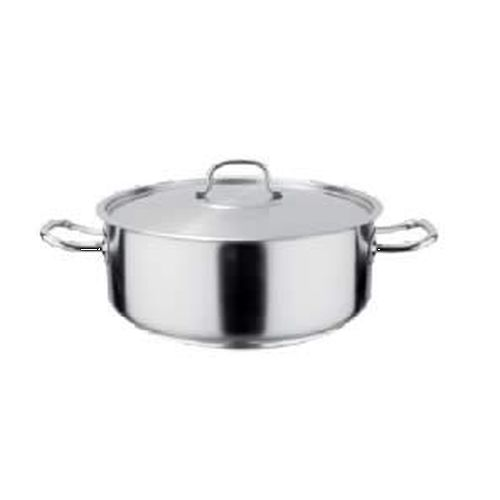 Pot S/Steel Low Casserole -  8Lt