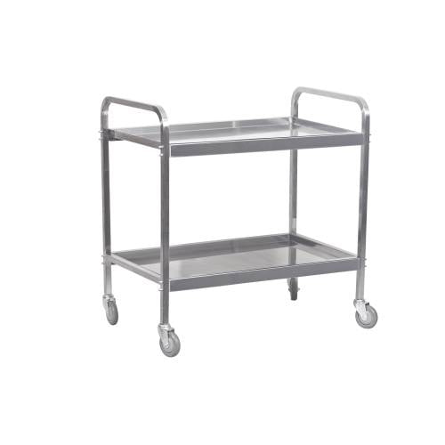 Tea Trolley S/Steel Heavy Duty - 2 Shelf 930Mm X 905 X 560Mm - 20Kg