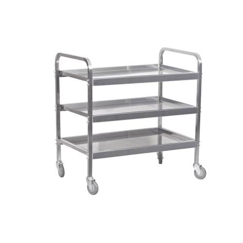 Tea Trolley S/Steel Heavy Duty - 3 Shelf 930Mm X 905 X 560Mm - 25Kg