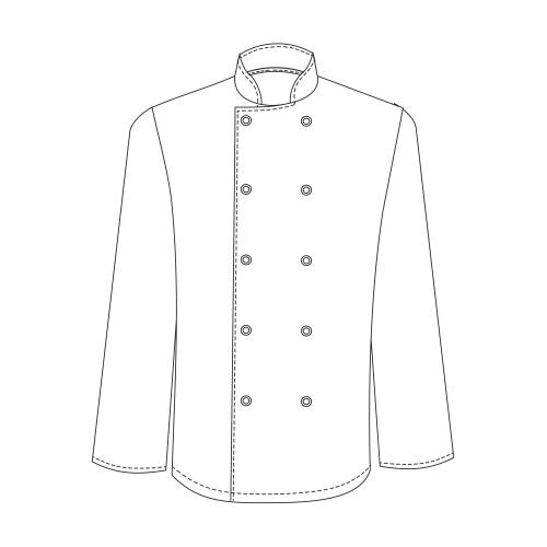 Chefs Uniform Jacket Basic Pop Button - Large