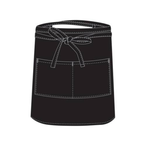 Chefs Uniform - Black Bar Apron