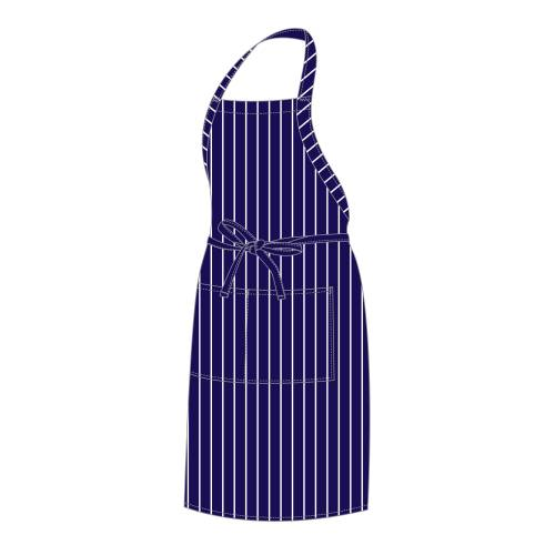 Chefs Uniform - Bib Apron - Black Chalk Stripe