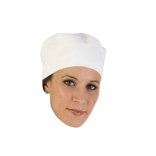 Chefs Uniform - White Poly Cotton Beanie