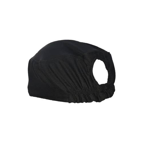Chefs Uniform - Chefs Ezi Breathe Hat Black With Internal Sweat Band And Elastic Back