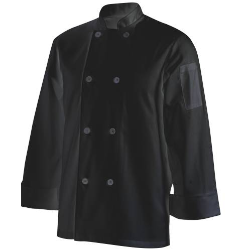 Chefs Uniform Jacket Basic Long - Black - Large