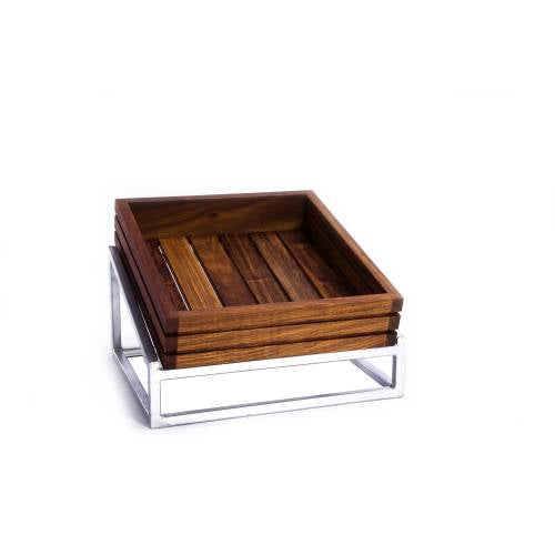 Wood Display Basket (330 X 300 X 70Mm) Infiniti