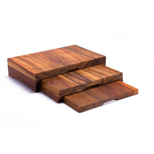 Wood Three Tier Risers (400 X 250 X 90Mm - Complete) - Infiniti