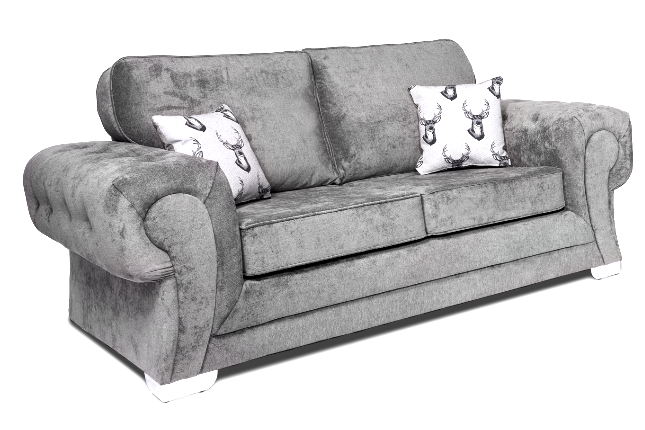 Verona Full Back 2 Seater Sofa Dark Grey