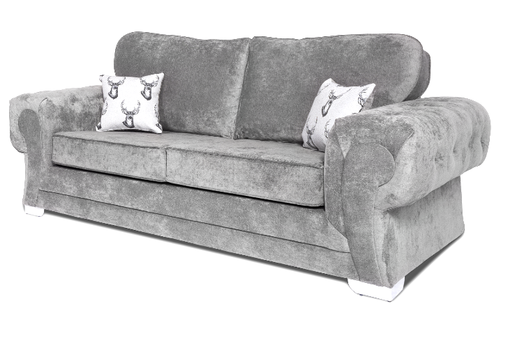 Verona Full Back 3 Seater Sofa Dark Grey