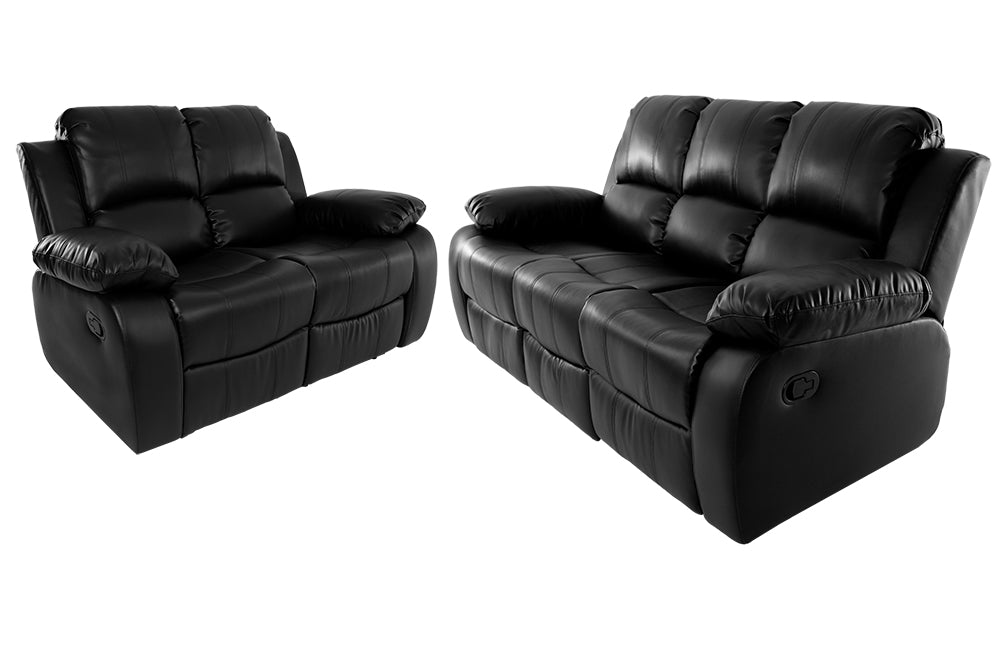 Valencia 3 + 2 Seater Recliner Black