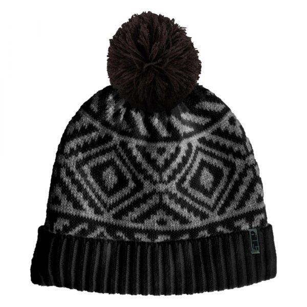 <transcy>Beanie with gray pompom</transcy>