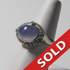 14kt White Gold Lavender Jade Ring