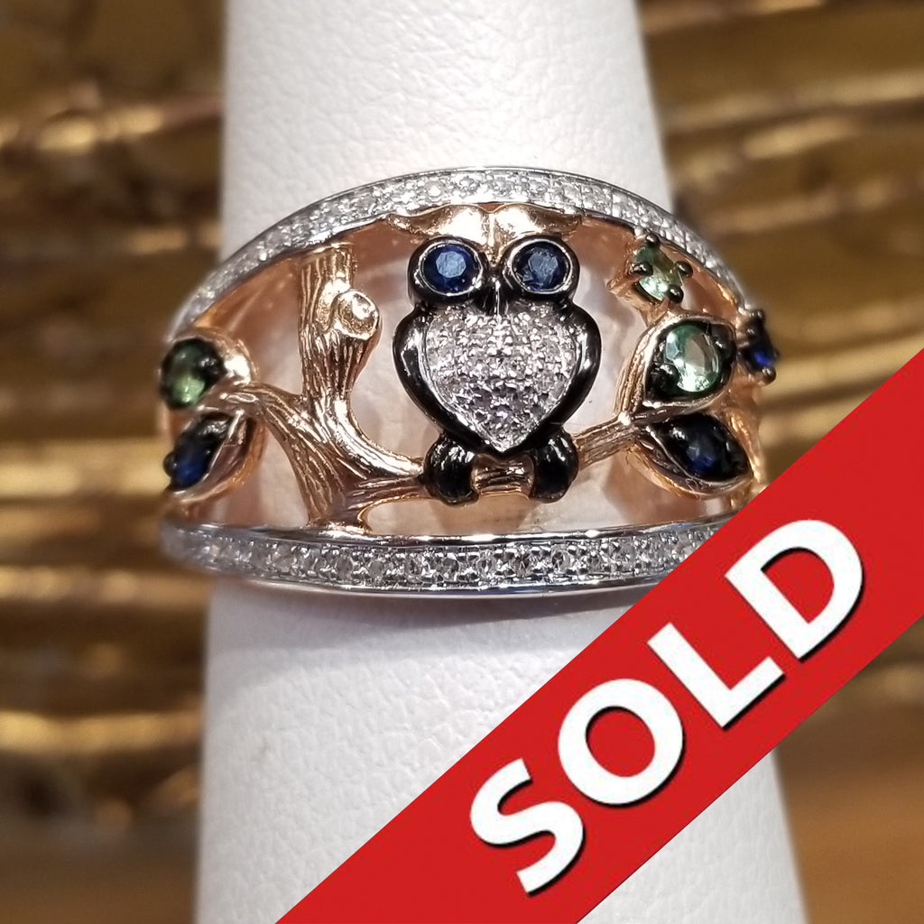 SOLD Owl Ring