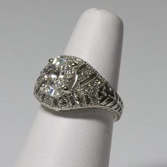 White Gold Diamond Ring 1.80ct 14kt
