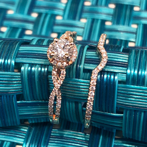 14kt Rose Gold Wedding Set