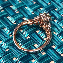 14kt White Gold Ring 1.07 ctr RBC Center G-VS1