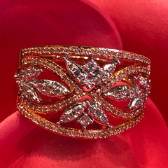 10kt Yellow Gold Ring 118 Singlecut Diamonds