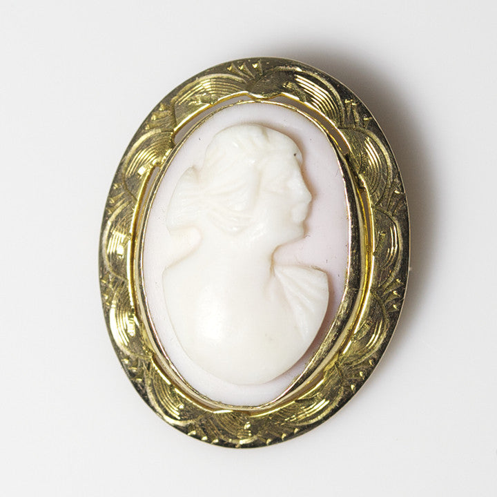 14kt Conch Shell Cameo 1850's