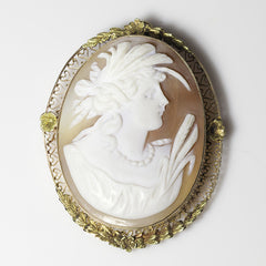 14kt Yellow & Green Gold Cameo