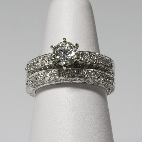 1.85ct Total Weight 14KT Diamond Bridal Set