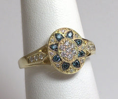 18KT Yellow Gold and Diamond Ring