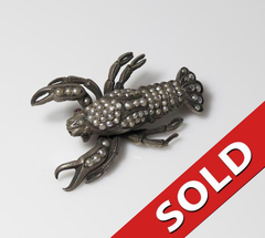 Silver and Natural Pearl Lobster Pin