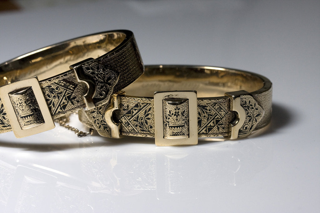 antique gold bangle bracelets 1880