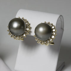 14kt Tahitian Pearl & Diamond set
