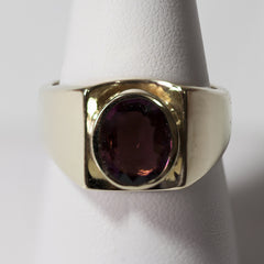 14kt Yellow Gold Tourmaline Mens Ring