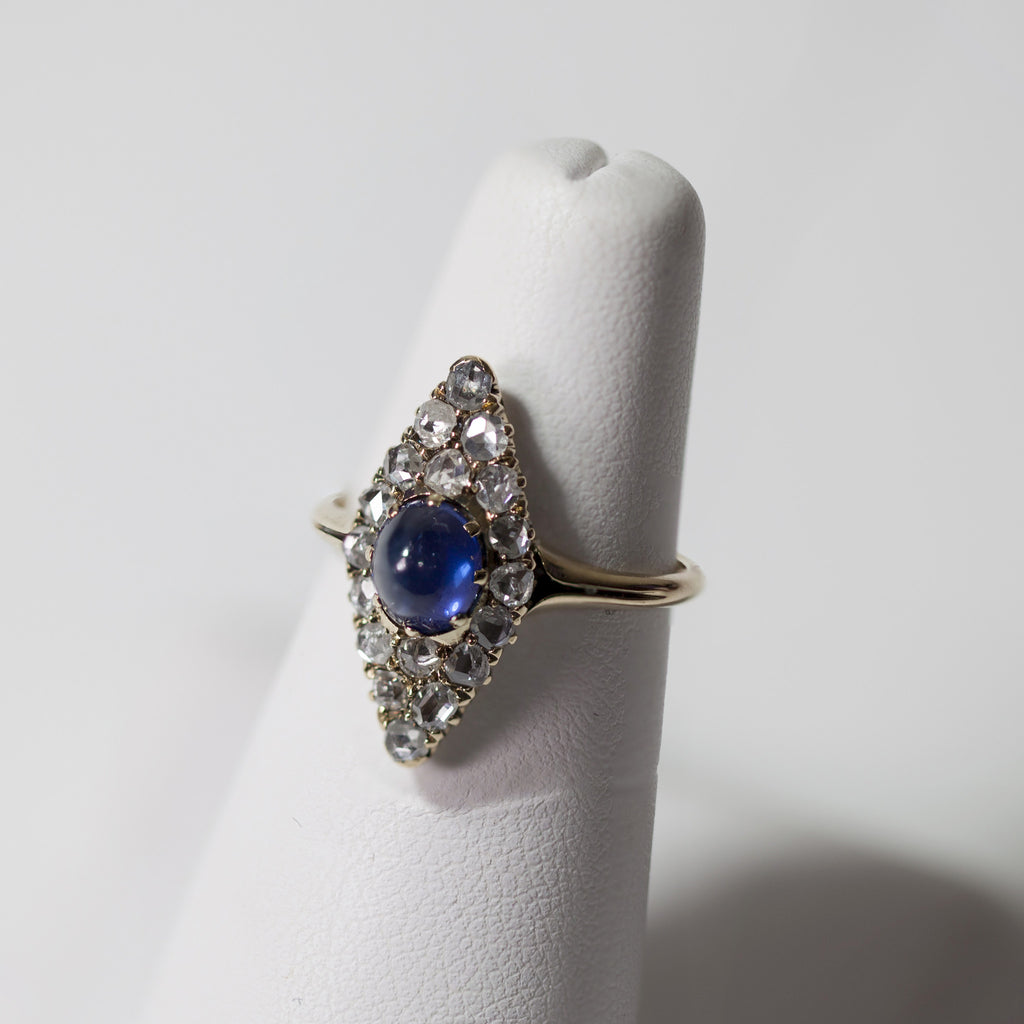 Antique 1850s Sapphire Rose Cut Ring