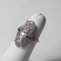 Platinum & Diamond Antique Ring