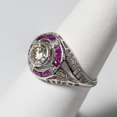 18kt Ruby & Diamond Ring